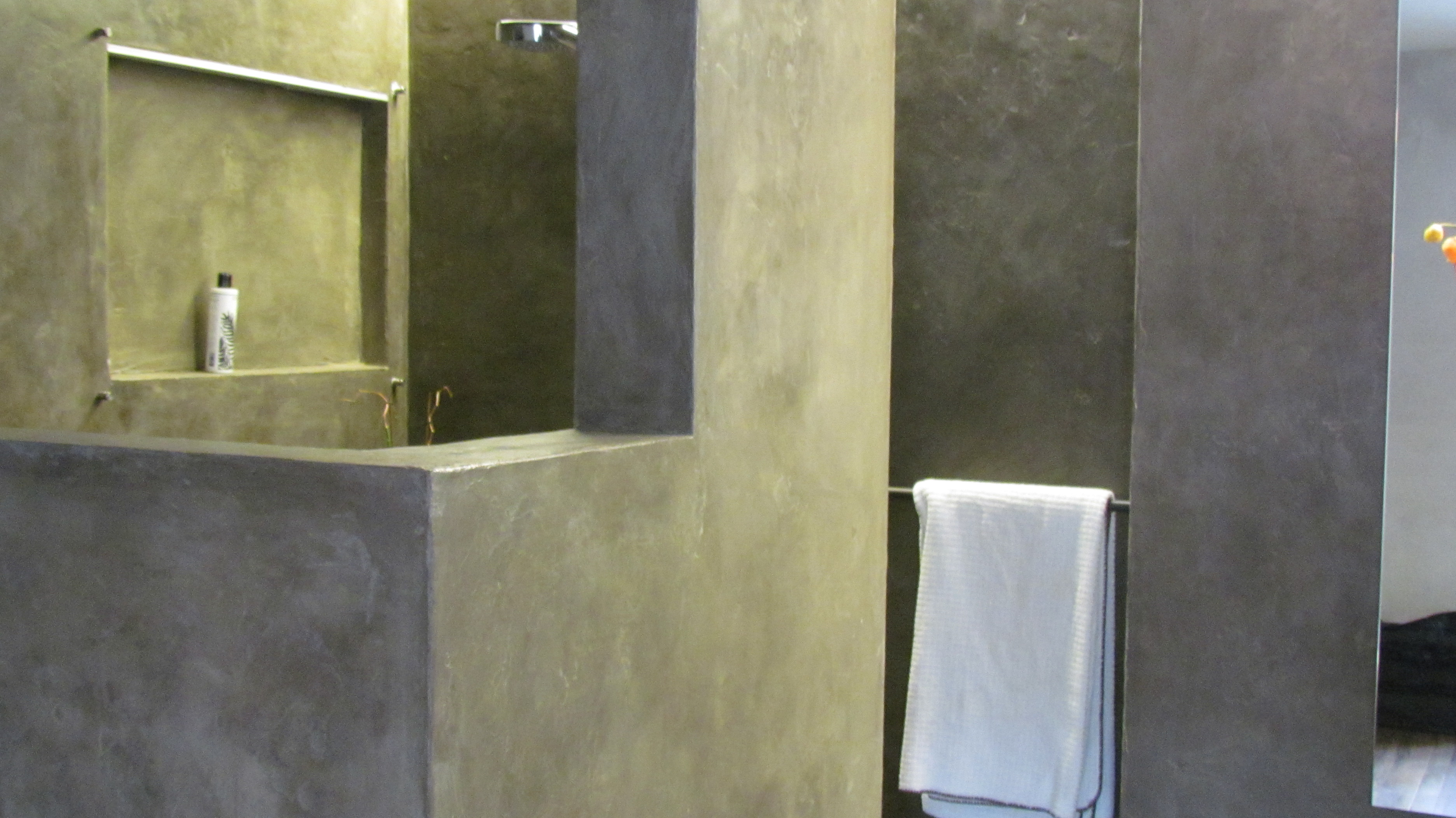 Steinwand Beton Dusche 3