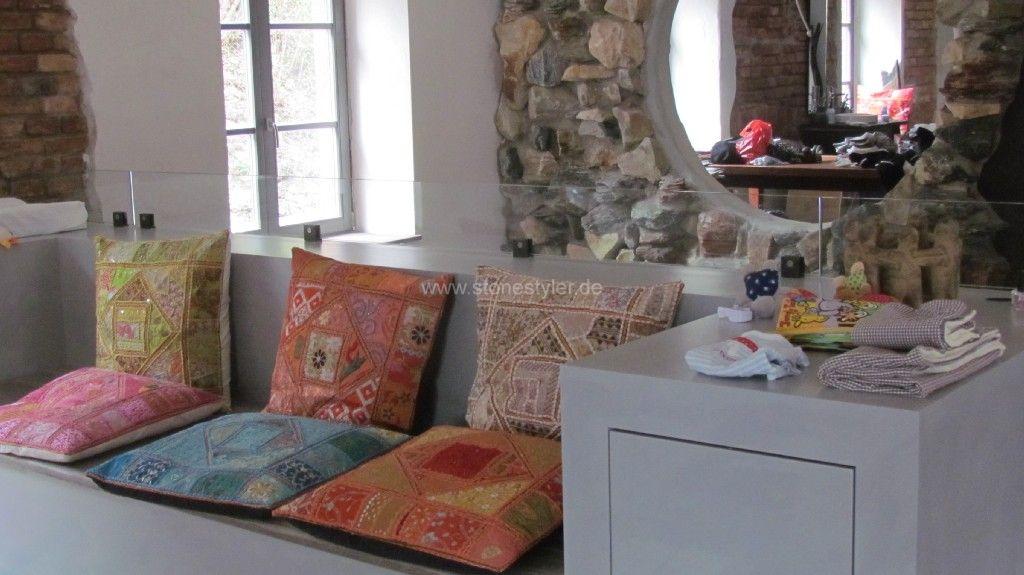 wohnzimmer steinwand grau:steinwand wohnzimmer anthrazit : Steinwand ...