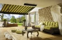 Steinpaneele Florina  auf einer Terrasse mit  Chillout Zone