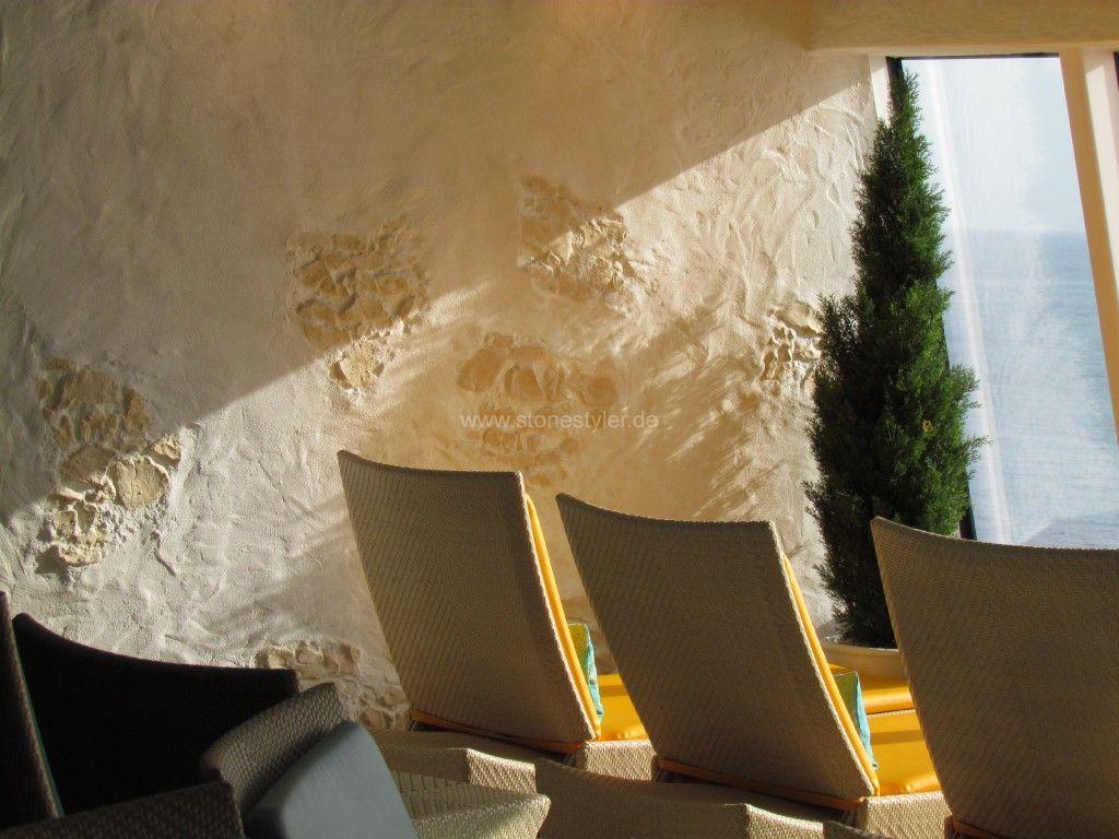 Steinwand design, holzwand design, steinstyler, steine an der wand ...