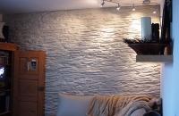 steinwand-400-shetland-creme, Steinwand im Wohnzimmer