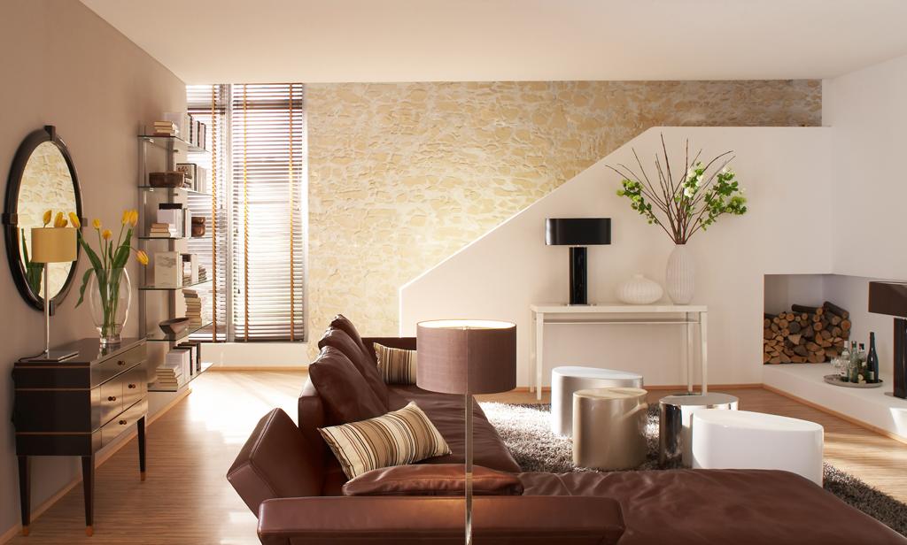 private Steinwände, Fernsehwände, Wohnzimmerwand neu ...