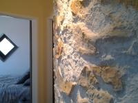 Steinwand Rund mit Marsalla  ocker