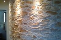 Steinwand  ganz Rund  , biegbare  Steinpaneele