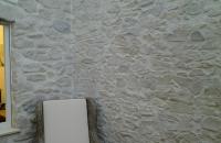 Marsalla  Steinwand  im Wintergarten Used  look  alt  beige grau