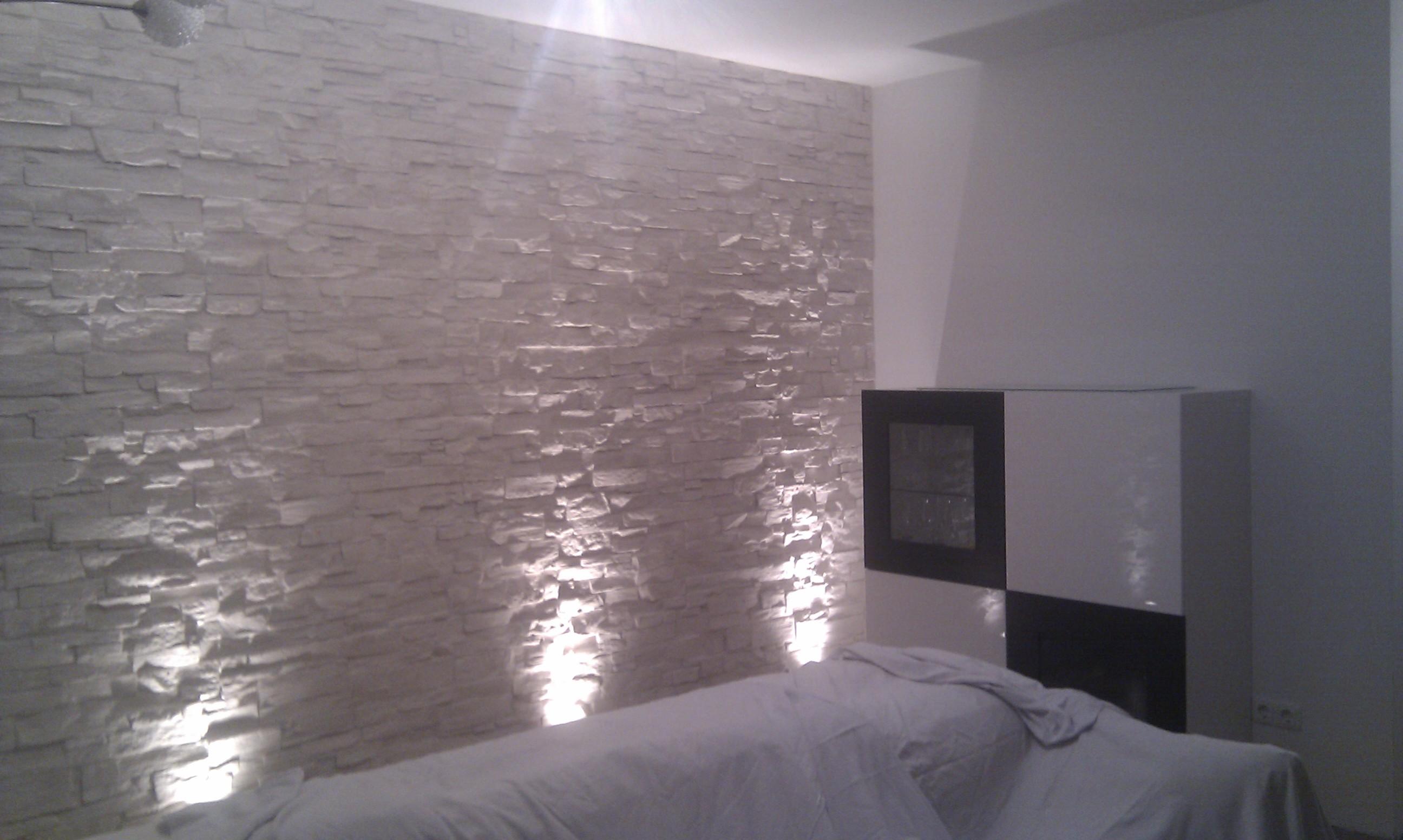 Wohnzimmer steinwand grau beige steinwand stockfotos