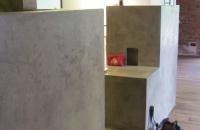 Betonmoebelbau im Bad. Modernes Design, einfach und edel