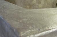 steinwand-beton-dusche-2, Detailaufnahme  der BEtonspachtelung  im Nassbereich