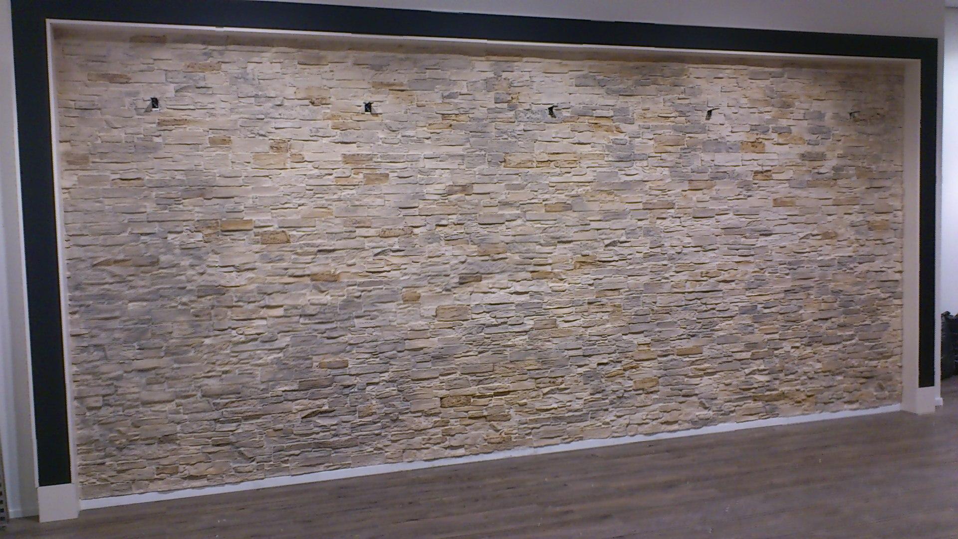 steinwand wohnzimmer beige – inelastic, Deko ideen