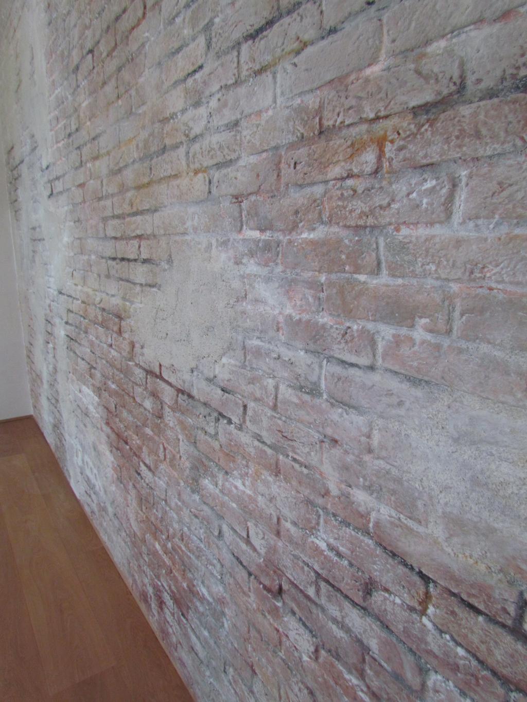 ziegelwand wohnzimmer:Putzwand, Ziegel mit Putz, Ziegelwand mit Putz im Wohnzimmer