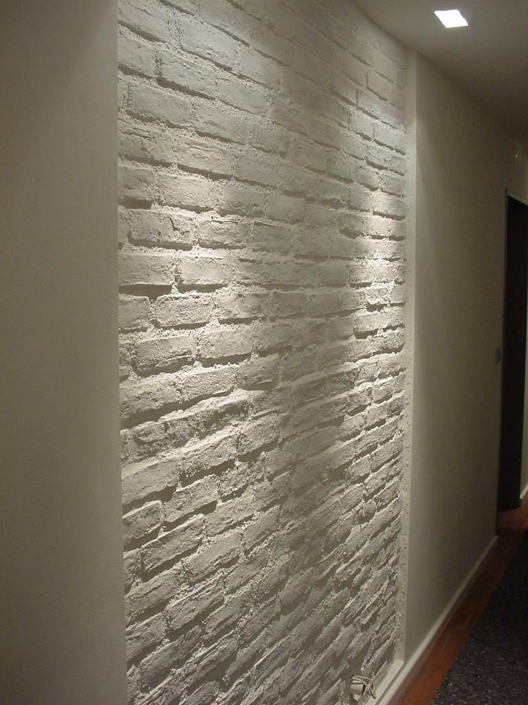 steinwand wohnzimmer riemchen ~ kreative deko-ideen und ... - Riemchen Wand Wohnzimmer